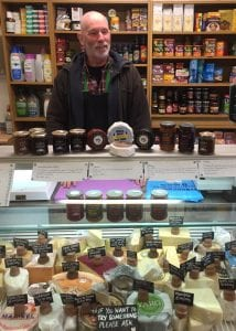 The cheese counter with Shaws chutneys at the Green Valley Grocer