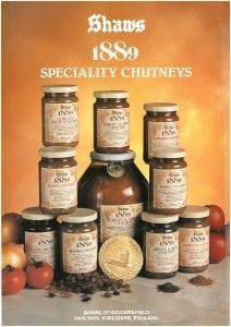 Shaws product range 1980
